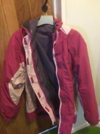 Trespass 3 in 1 coat, size 16. RRP £40