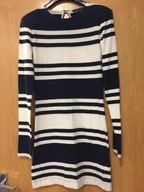 French Connection Bodycon Stripy Dress Size 8