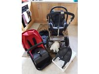 Cameleon red bugaboo with extras car seat iso fix adaptors buggy board rain cover carry cot all in!
