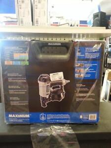 Maximum Air powered Roofing Nailer. We sell used power tools. (38018)