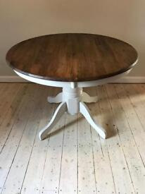 Extendable Round Dining Table