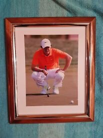 Framed rory MClroy photo