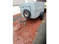 Trailer galvanised. 5ft.x3ft.x2ft.deep with spare wheel and lights.160.00