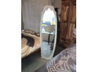 Freestanding Cream Mirror