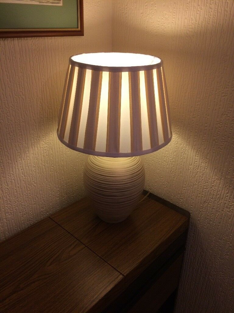 Large cream/gilt Table Lamp by Next