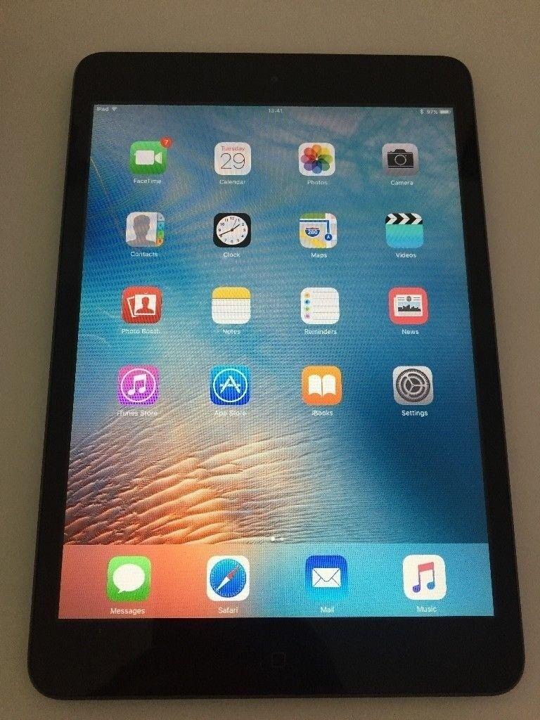 Apple iPad Mini 1, A1432, 16GB, Wi-Fi, IOS 9.3, 7.9in