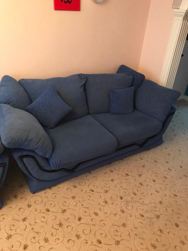 Blue Sofas 2 Seater & 3 Seater.