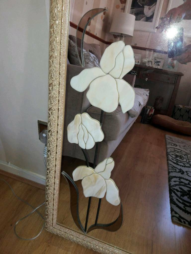 Beautiful large decorative gold/cream mirror