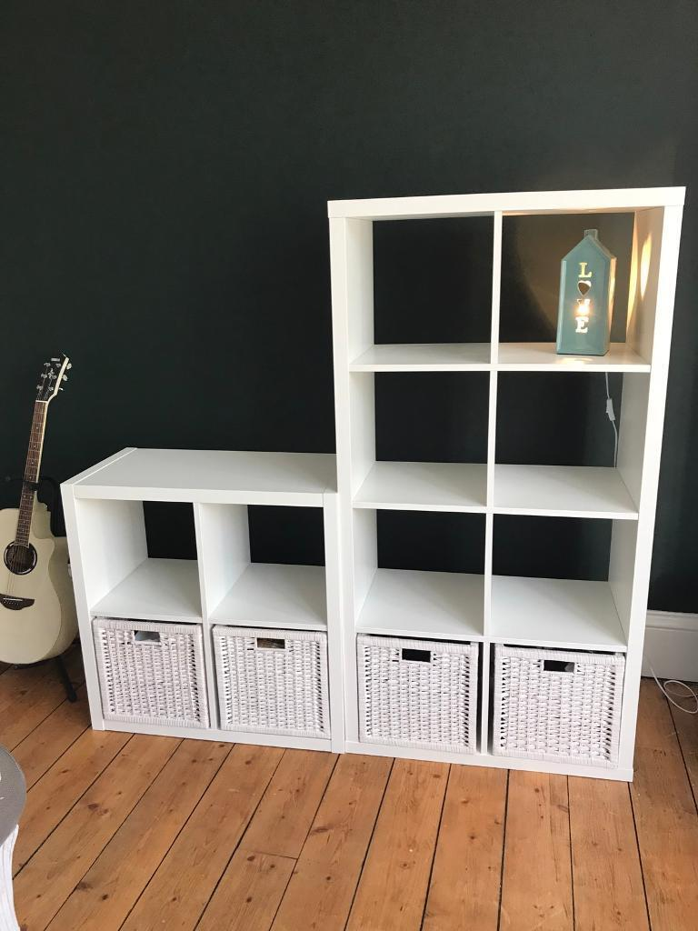 ikea shelves and wicker basket drawers in kirkcaldy fife gumtree