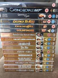 James Bond dvd collection 16 movie 12 sealed