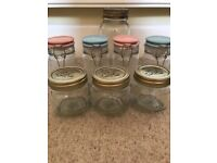 MIXED LOT OF STORAGE JARS. X4 new