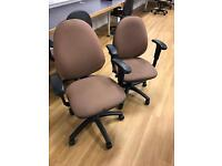 Brown Adjustable Computer Chairs