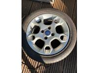 Fiesta snow flake alloy with tyre