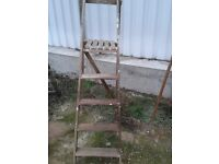 Wooden step ladder for display . Use in shop windows florist ect .