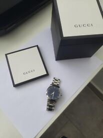 Gucci Mens Watch Boxed Blue face Excellent condition