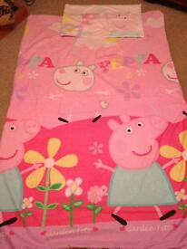 Peppa Pig bedding single duvet cover and pillowcase