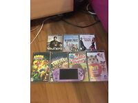 FOR SALE. Purple PSP with 3 films and 4 games.
