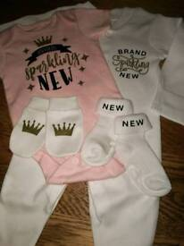 Baby body suit set 0-3 month