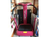 Crazy Fit Pink Power Plate Toning Oscillating Massage Gym Fitness Machine
