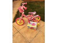 Infant girls peppa pig bike with helmet