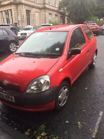 Toyota Yaris, Red, 1L, No MOT, Needs repair.