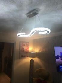 Reduced Diamanté S shape ceiling light £60 no offers