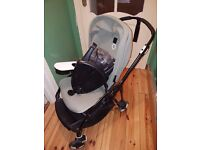 BUGABOO BEE3 KHAKI PUSHCHAIR WITH ACCESSORIES
