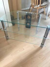 Glass 3 shelved TV Stand