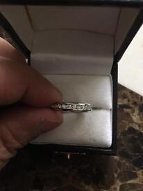 18 carat white gold Full diamond eternity ring