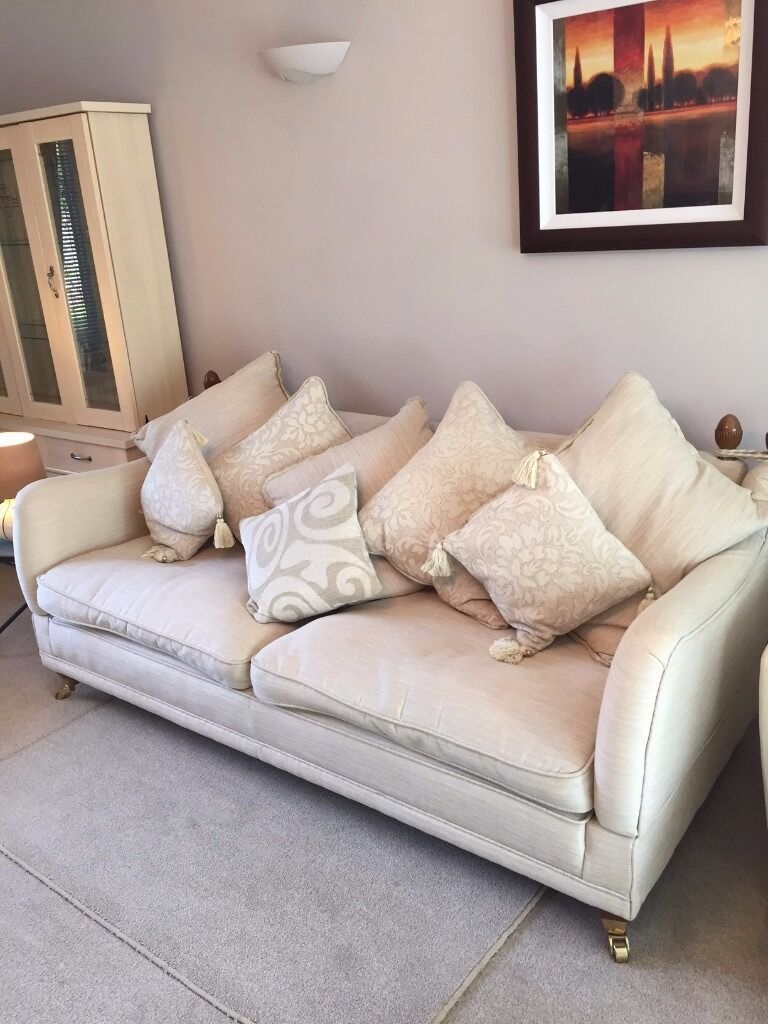large cream fabric sofa from dfs very little usage high quality piece in fforestfach. Black Bedroom Furniture Sets. Home Design Ideas
