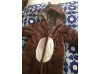 Very cute bear, Mothercare winter/buggy suit for 6-9 months old