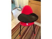 Babybjorn High Chair (red and black)