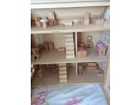 Chad valley wooden dolls house