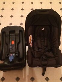 Joie juva carseat and belted base