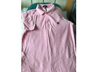 Lyle & Scott pink polo shirt