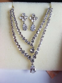 Silver Diamond Necklace