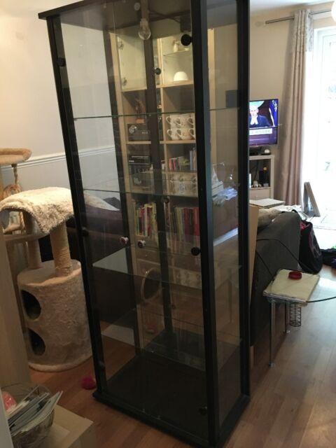 Glass Display Cabinet Black Edging | in Nottingham, Nottinghamshire |  Gumtree
