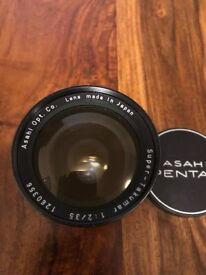 Pentax Asahi f2 35mm canon eos fit lense