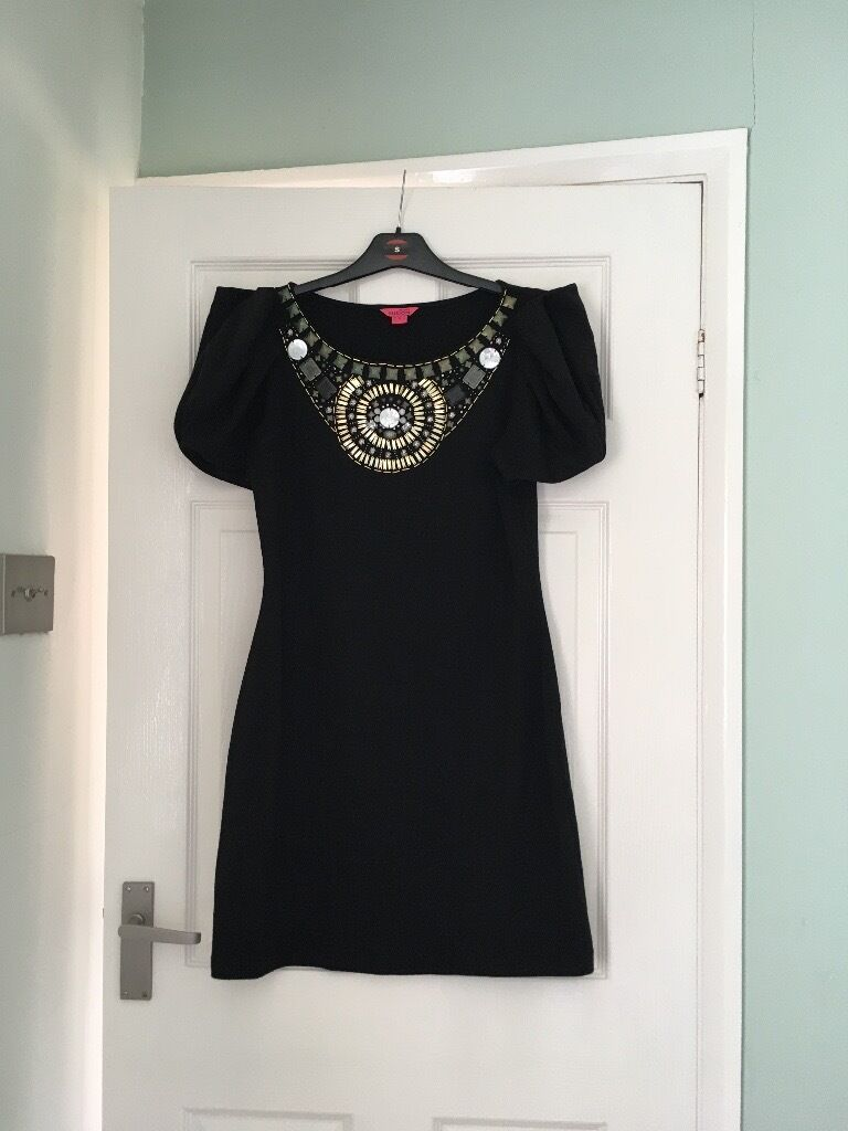 Monsoon dressin Killamarsh, South YorkshireGumtree - Black embellish jewelled monsoon dress in a size 12 and above the knee in length