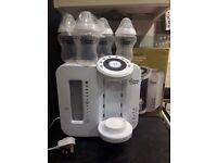 Tommee Tippee Perfect Prep Machine plus 4x unused bottles