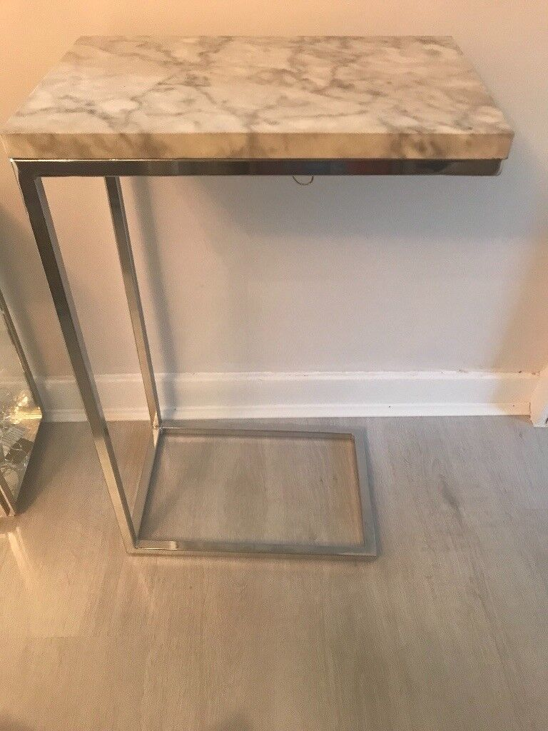 Marble And Silver Coffee Table.Marble Silver Side Table Hall Table In Milngavie Glasgow Gumtree
