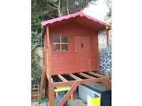 Wooden playshed