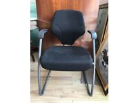 2 AVAILABLE - Black GIROFLEX Office Chair - Fixed Grey Legs - Office Furniture