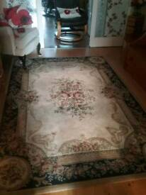 Large rug made by English manor