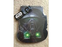 Star Wars death trooper rogue one note pad *New* with label