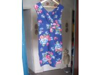 Ladies Size 12 Small Blue floral Dress