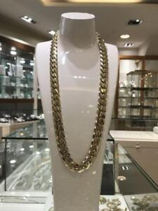 Brand New 10k Yellow Gold MIAMI Cuban Link 28 inches 15 mm