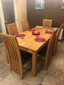 Maple Table with 6 chairs