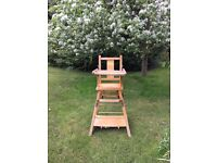 VINTAGE child's highchair/activity table chick design ST
