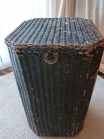 linen basket vintage original lloyd loom with label in need of painting